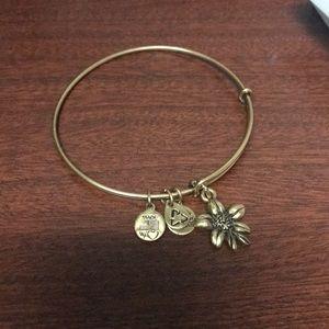 Jewelry - Alex and Ani Gold Flower Bracelet